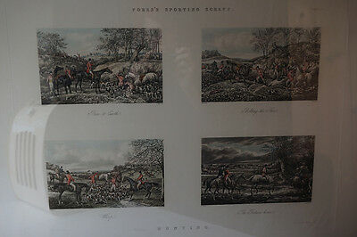 Fore's Sporting Scraps Plate 4 by H Alken J Harris Framed Hunting Prints Horse