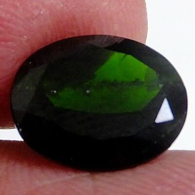 NATURAL GREEN CHROME DIOPSIDE LOOSE GEMSTONES (11.9 x 10.7 mm) LARGE OVAL-CUT