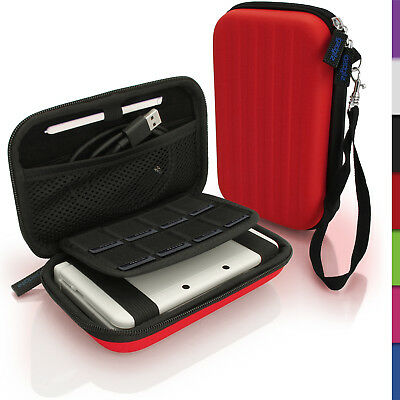 Red Hard Case Cover for New Nintendo 3DS XL 3DSXL (All Versions) Sleeve Pouch