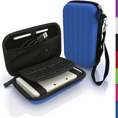Blue Hard Case Cover for New Nintendo 3DS XL 3DSXL (All Versions) Sleeve Pouch