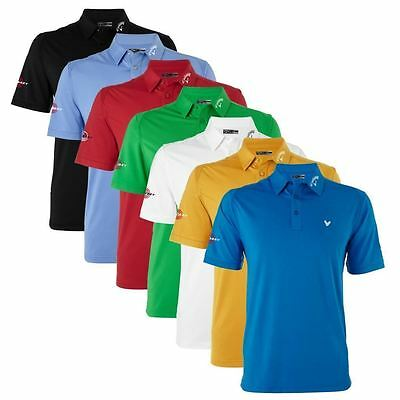 55% Off Rrp Callaway Solide Interlock Odyssey Logo Hommes Golf Polo Shirt