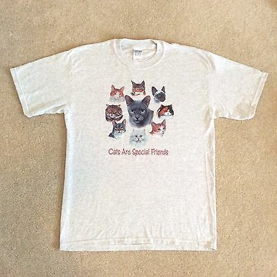 "Save the Kitty Cats!  Kitty T-shirt Large - 27"" Long 21"" Wide"