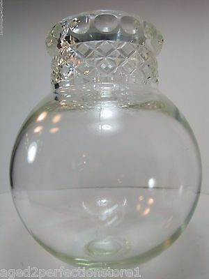 Antique Apothecary Candy Jar round bottom drug store pharmacy thumbprint diamond
