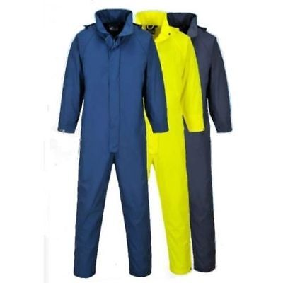 Waterproof Coverall Overall Boilersuit Hooded Windproof Work Outdoor Sealte S452