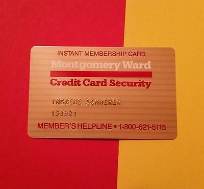 "RARE VINTAGE ""1970's MONTGOMERY WARD - LIFETIME MEMBER CREDIT CARD"" EXPIRED"