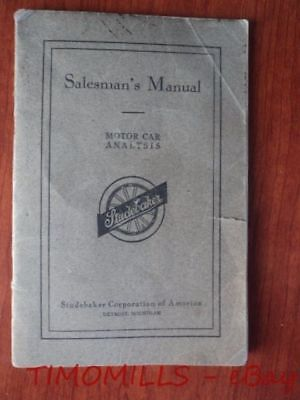 1916 Studebaker Salesman's Manual Data Book Four Six Series 17 Brass Age Vintage