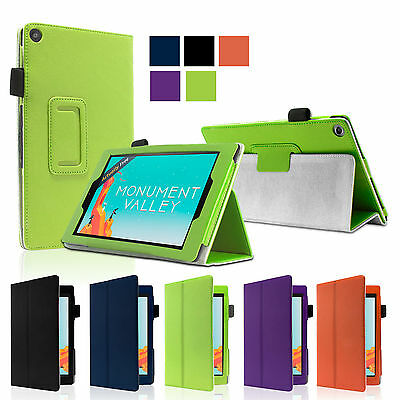 Smart Stand Leather Case Cover For Amazon 2015 New Kindle Fire 7 HD 8 10.1 inch