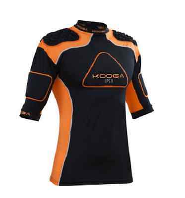 KOOGA IPS PRO V Mens Black Orange Rugby Protection Body Armour Vest Top XXL BNWT