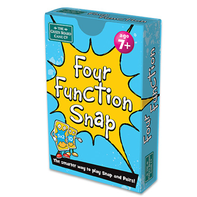 Four Function Snap and Pairs Card Game - Educational Game for Children 7+ Years