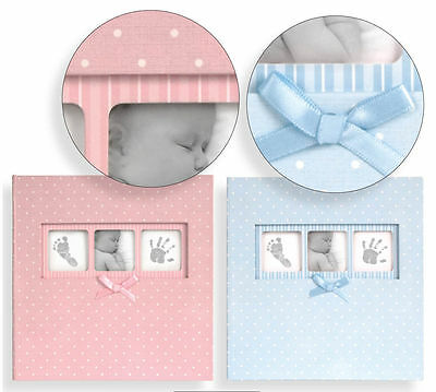 Baby Boy / Girl Polka Dot 6 x 4 Blue Photo Picture Album Holds 200 Blue Pink