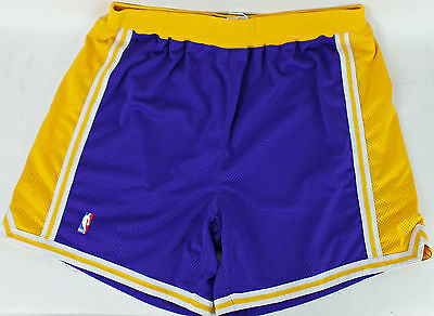 Lakers Shaquille O'Neal Game Used 1997-98 Road Nike Shorts Size 52 w/ Mears COA