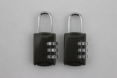 2x Digit Resettable Combination Lock 3 Dial Padlock Door Travel Luggage
