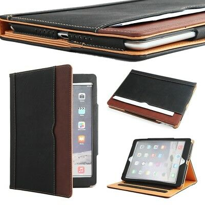 New Soft Leather Wallet Smart Case Cover Sleep / Wake Stand for All iPad Mini 4