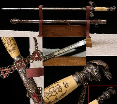 Boutique Early UnitedStates Masonic Knights Templar Cavalry Sword Copper Fitting