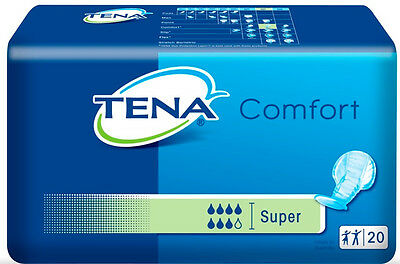 TENA Comfort Super (Pack 20) - Disposable Adult Shaped Incontinence Pads