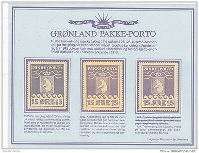 Greenland 1984 Pakke Porto Reprint Ministry of Posts BB471