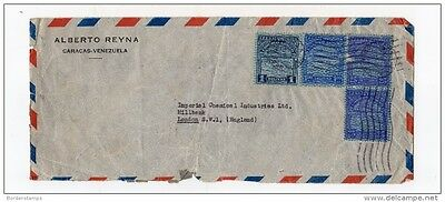 Venezuela Postal History Airmail Cover to ICI London
