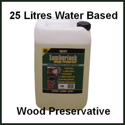 Everbuild Lumberjack Clear Wood Preservative 25 Litres - Water Based