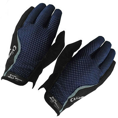 2016 Callaway X-Spann All-Weather Leather Palm Compression Mens Golf Gloves-PAIR