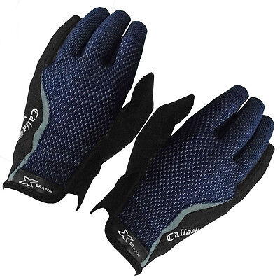 Callaway X-Spann 2016 All-Weather Leather Palm Compression Mens Golf Gloves-PAIR