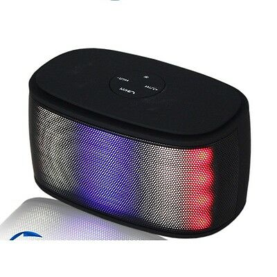 New Black Portable Bluetooth Wireless Rechargeable Stereo Speaker Mp3 FM Mic UK