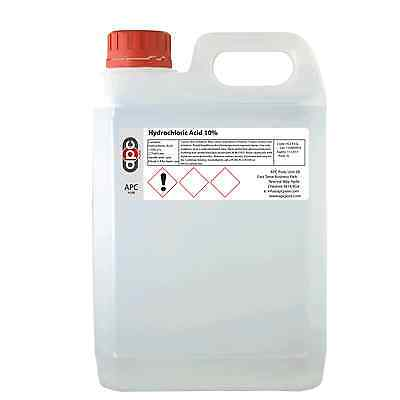 Hydrochloric Acid 10% Industrial Brick Cleaner/Patio Cleaner 5L - *HIGH QUALITY*