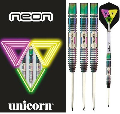Unicorn Neon 2 DNA 90% Tungsten Steel Tip Darts - Machina Rear Grip