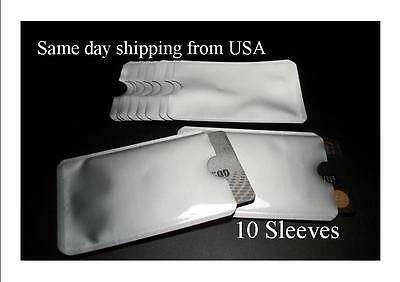10 Pack High Level RFID Blocking Credit Card Sleeve Protector Shield