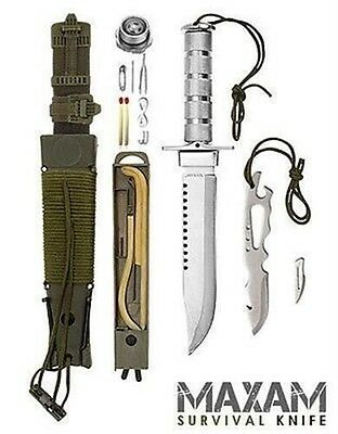 12pc Military Combat Knife Free Priority Shipping!  Maxam Classic Survival Knife