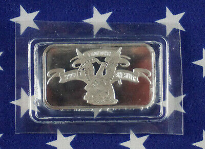 APMEX American Eagle Original 1oz Troy .999 Fine Solid Silver Bullion Bar A4
