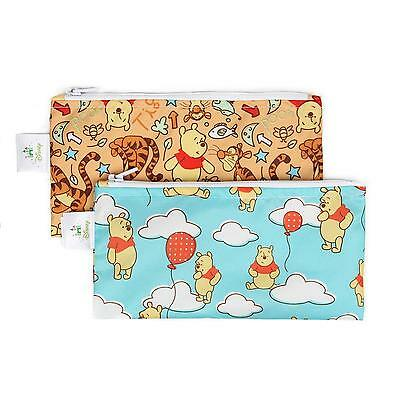 Bumkins Disney Reusable Snack Bags (Small): 2 Pack - Pooh Balloons/Woods