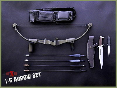 X-TOYS First Blood Rambo Model 1/6  Bow Arrow Set+Knife Toys for Figure action