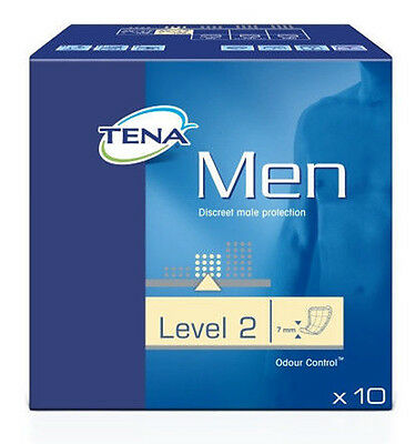 TENA Men LEVEL 2 (Pack 10) Male Disposable Incontinence Pads