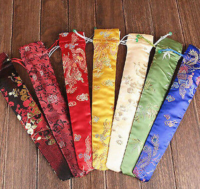 New WHOLESALE 10 PCS CHINESE HANDMADE MIX-COLOR SILK EMBROID FAN COVERS/BAGS