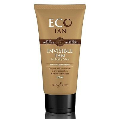 Eco Tan - Organic Invisible Tan 150Ml - Natural & Vegan Self Tan + Free Sample
