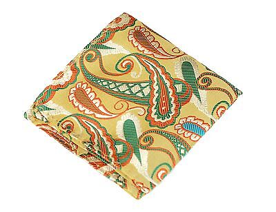 Sao Paolo Red /& Gold Woven Silk Lord R Colton Masterworks Pocket Square