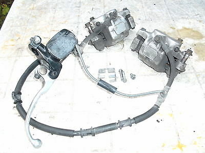 yamaha XJ900 DIVERSION 02 front brake set calipers master pads lines complete