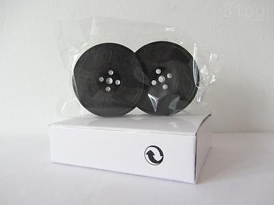 1 x 'HERMES 2000' *PURPLE* Typewriter Ribbon TWIN SPOOL *AIR SEALED* APPROVED