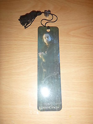 Lord of the Rings - The Two Towers WORMTONGUE Bookmark with Charm