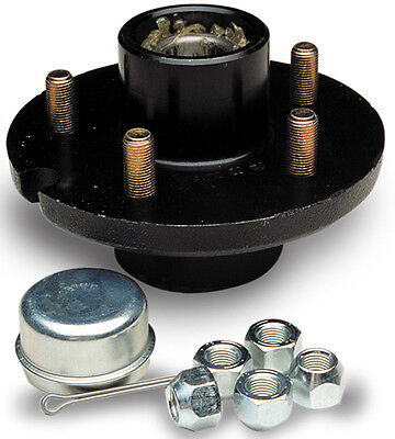 "Boat & Utility Trailer 5 Stud Hub Kit 1250 lbs Capacity 1"" Wheel Bearing"