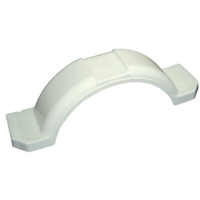 "Boat & Utility Trailer Polyethylene White Plastic Fender for 13""-15"" Tire Wheel"