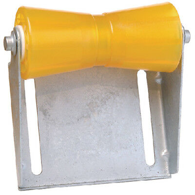 Tiedown 86280 Boat Trailer Amber/Yellow Poly Keel Roller & Bracket Kit 8""