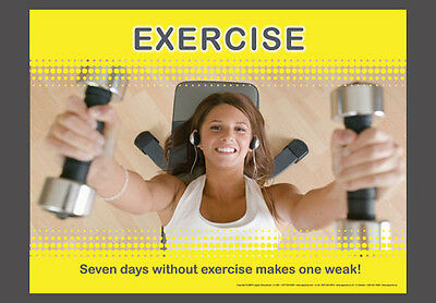 Woman Strength Training at Gym with Weights SEVEN DAYS Motivational Poster