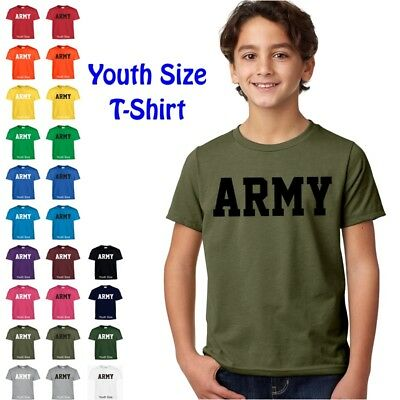 US ARMY Kids Boys Girls T Shirt Child Children YOUTH FIT Tee T Shirt