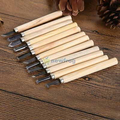 12pcs Set Craft Hand Wood Carving Chisels Knife For Sculpture Woodcut  DIY Tools