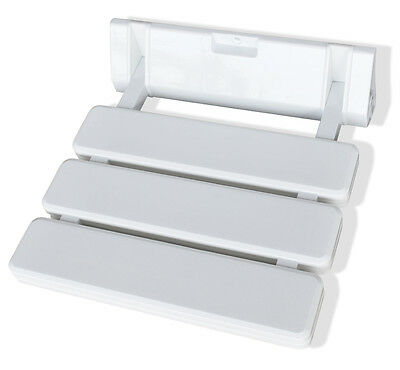 A-1 Folding Shower Seat by SteamSpa - ABS White Plastic