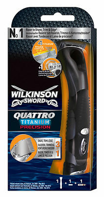 Wilkinson Sword Quattro Titanium Precision And Blade Packs Mens Shaver Blades