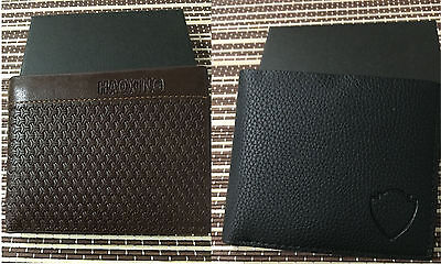Men's Leather Wallet Black/Brown Christmas Gift