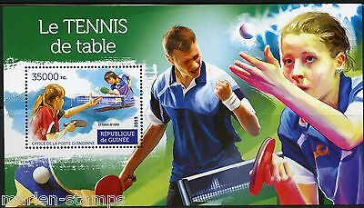 Guinea 2015 Table Tennis --Ping Pong Souvenir Sheet   Mint Never Hinged