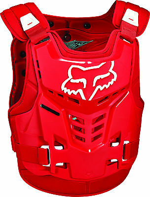Fox MX Proframe LC Red Adult Chest Protector/Roost Guard/Deflector MX ATV BMX